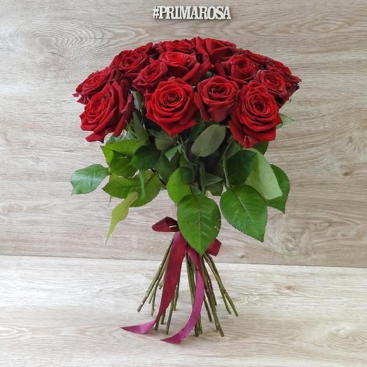 25 красных роз 60 см: букеты цветов на заказ Flowwow