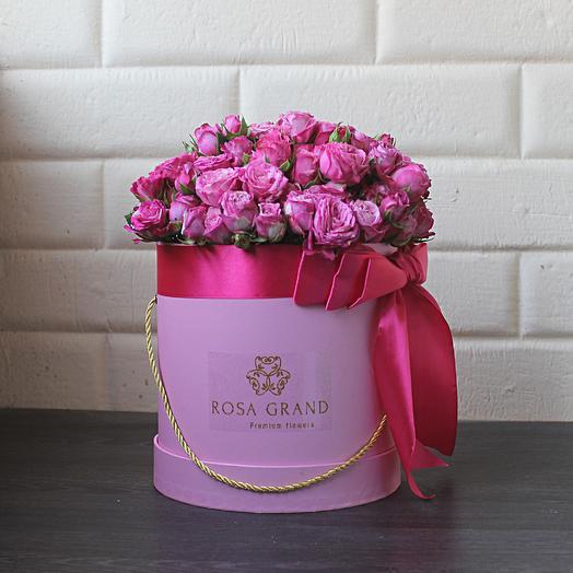 19 кустовых пионовидных роз: букеты цветов на заказ Flowwow