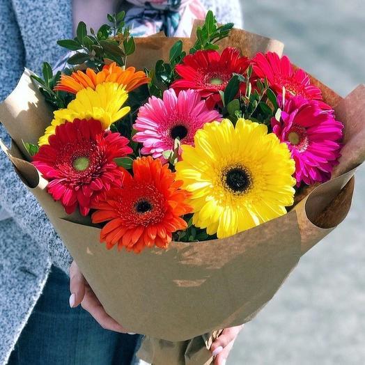 Солнечный микс: букеты цветов на заказ Flowwow