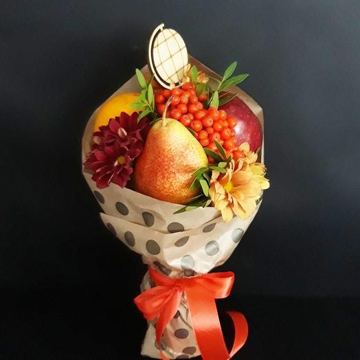Фруктовый букет «глобус»: букеты цветов на заказ Flowwow