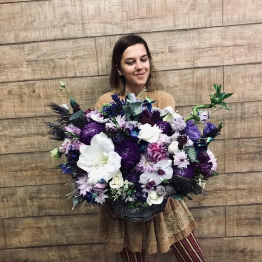 Шикарная корзина для самой любимой: букеты цветов на заказ Flowwow