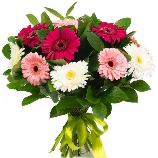"""Букет из 15 гербер """"Андалузия"""": букеты цветов на заказ Flowwow"""