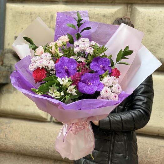 Орхидеи в саду: букеты цветов на заказ Flowwow