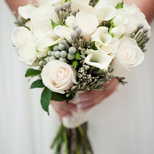 """Свадебный букет """"Стильная классика"""": букеты цветов на заказ Flowwow"""