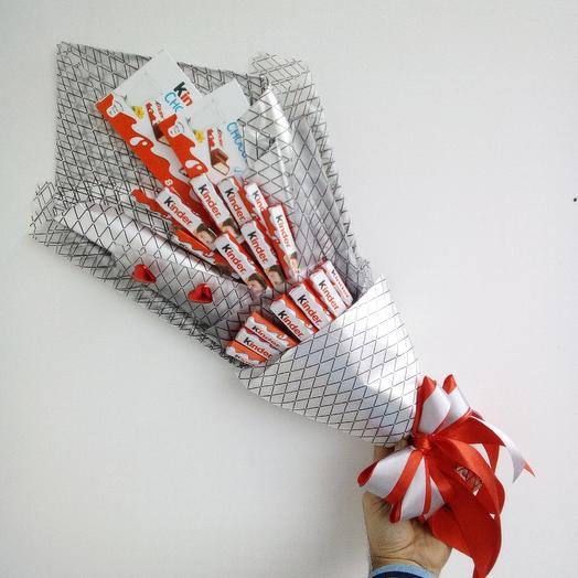 Букет из Киндер шоколадов: букеты цветов на заказ Flowwow