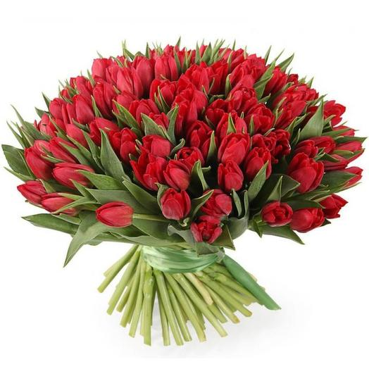 101 red Tulip: flowers to order Flowwow