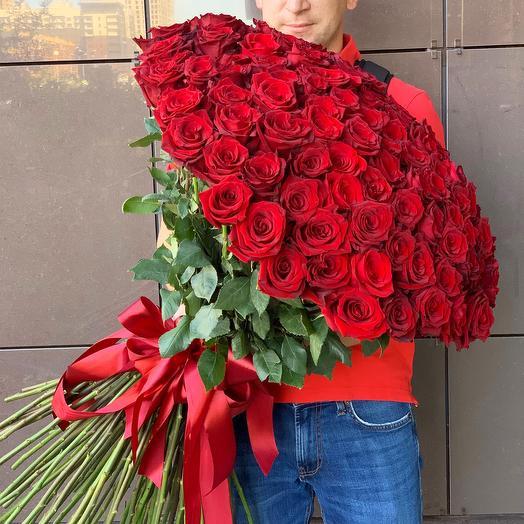 """Букет из 101 розы """"Безусловная любовь"""""""