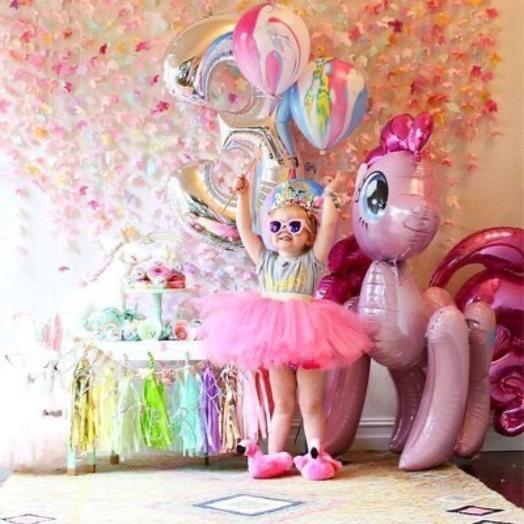 Ходячий шар «My Little Pony Пинки Пай»: букеты цветов на заказ Flowwow
