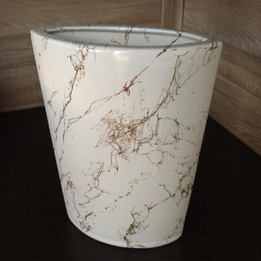 «Мрамор» ваза декоративная