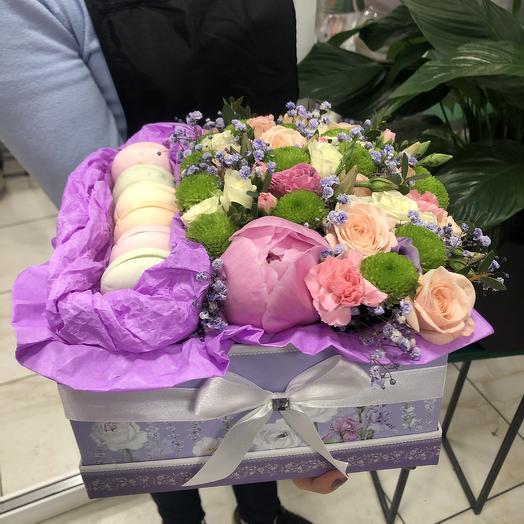 Сладкая коробка: букеты цветов на заказ Flowwow