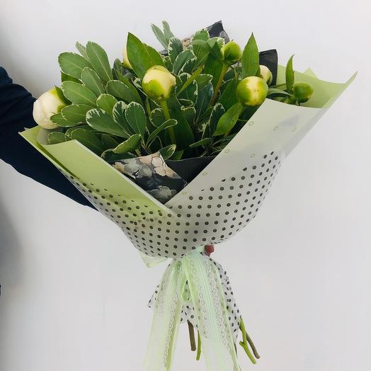 Букет Белые пионы: букеты цветов на заказ Flowwow