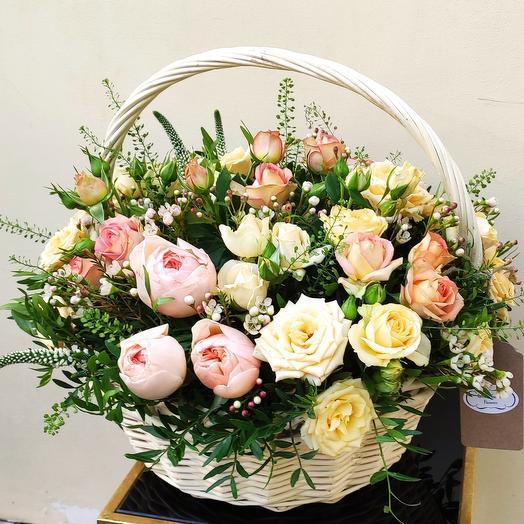 Корзина ROUSE: букеты цветов на заказ Flowwow