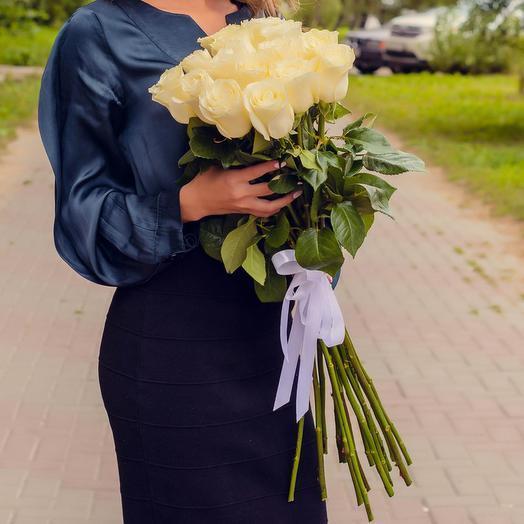 Bouquet of 15 Premium white roses