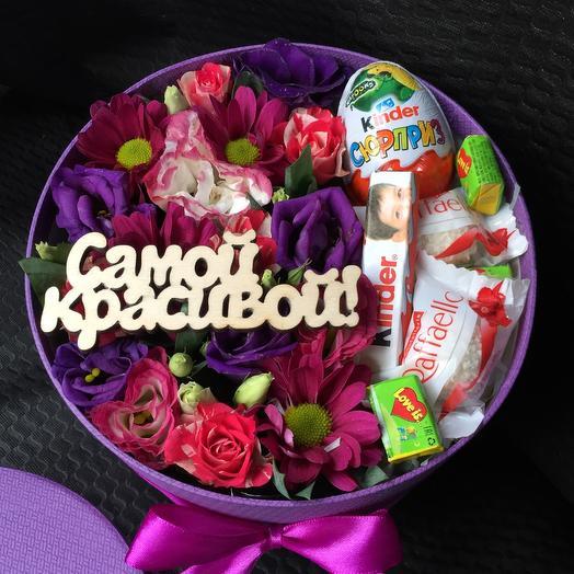 Цветы в коробке 3158