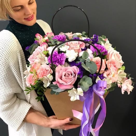 Цветы к крафт сумочке