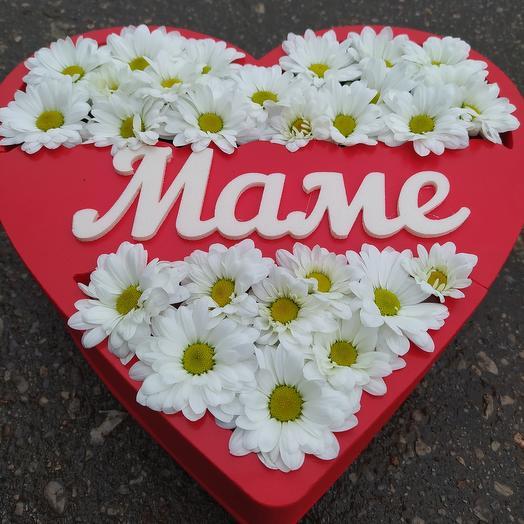 Цветы в коробке к празднику