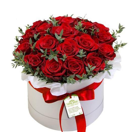 Ярко-Красная цветочная коробка