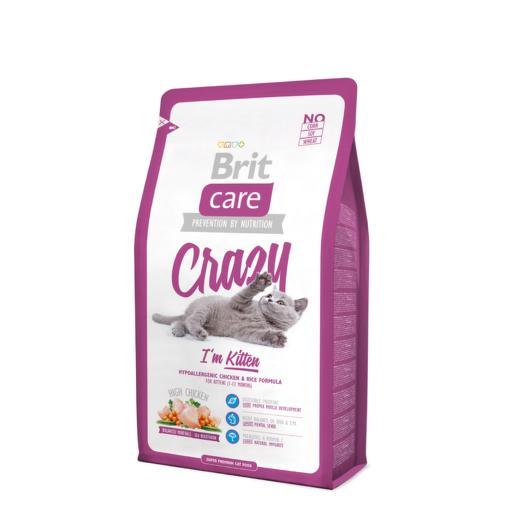 Brit Care Cat Crazy Kitten сухой корм для котят, беременных и кормящих кошек 400г