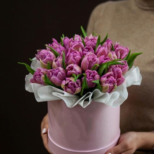 """🔥Коробка""""39 сирениевых пионовидных тюльпанов"""""""