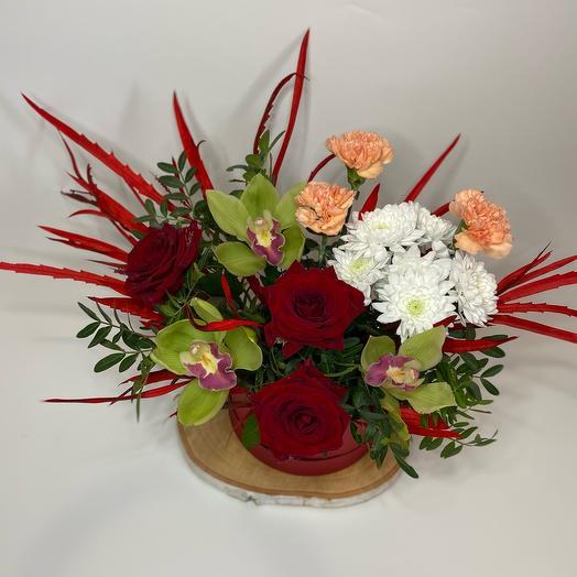 Цветы в коробке Страстное признание