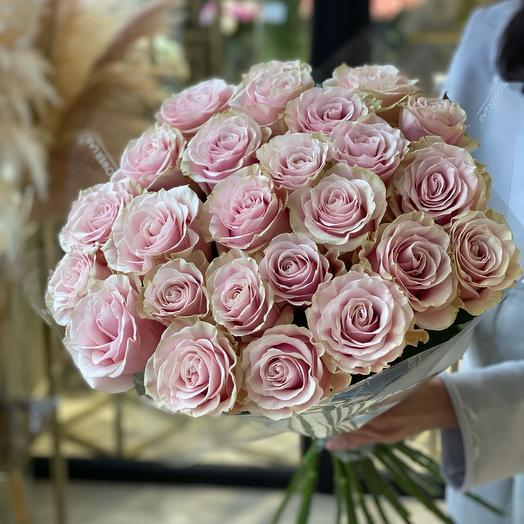 Моно букет из роз Пинк Мондиаль
