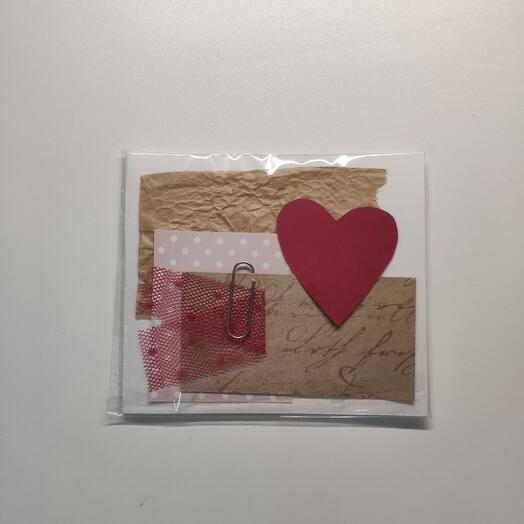 Крафтовая открытка малая