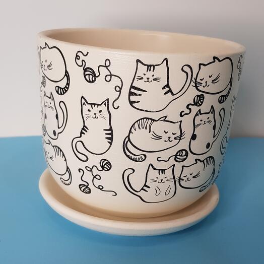 Горшок с котятами