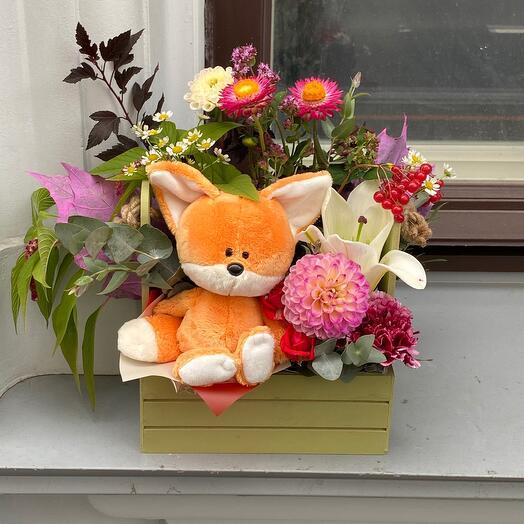 Ароматные цветы с лисичкой 🦊🦊🦊