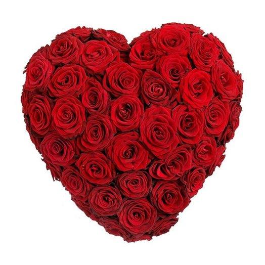 Сердце из цветов Пламенное сердце: букеты цветов на заказ Flowwow