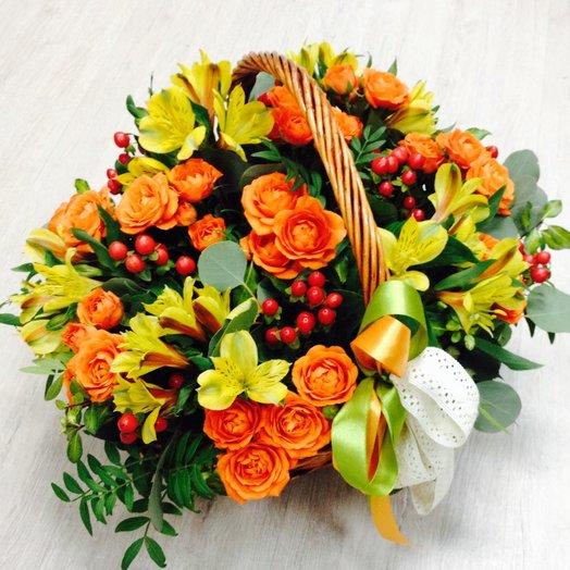 Корзина Очарование осени: букеты цветов на заказ Flowwow