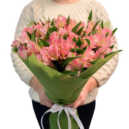 Букет из розовых альстормерий: букеты цветов на заказ Flowwow
