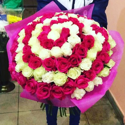 Букет Спираль Шикарный букет: букеты цветов на заказ Flowwow