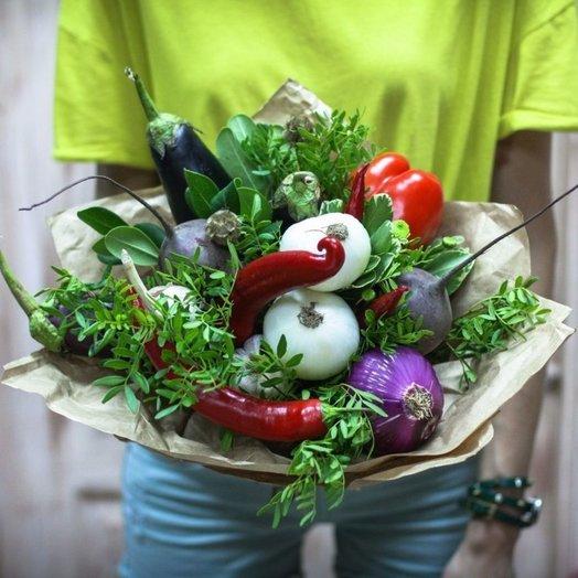 Овощной букет Баклажан