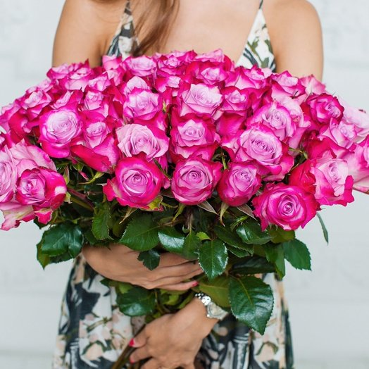 Букет 71 роза (Нежность): букеты цветов на заказ Flowwow