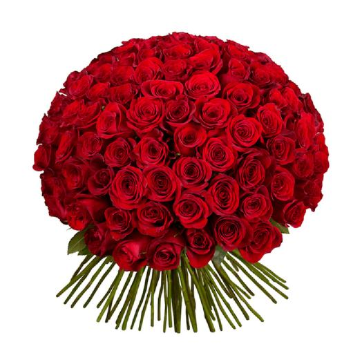 Букет 101 красная роза по акции (40см): букеты цветов на заказ Flowwow