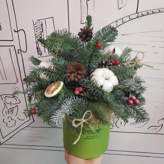 Рождественская коробочка: букеты цветов на заказ Flowwow