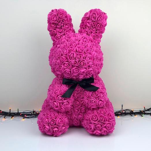 Зайчик из розовых розочек: букеты цветов на заказ Flowwow