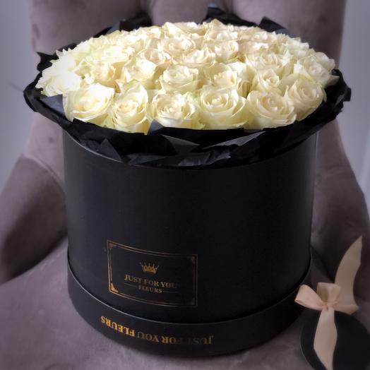 Коробка чёрная: букеты цветов на заказ Flowwow