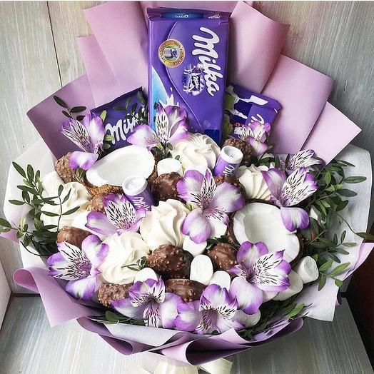 Сладкий букет  «Милка»: букеты цветов на заказ Flowwow