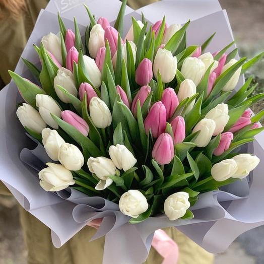 Тюльпан микс: букеты цветов на заказ Flowwow