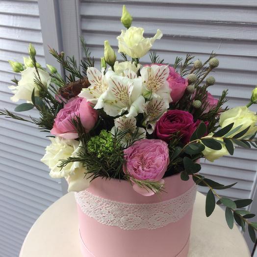 Розы и кружево: букеты цветов на заказ Flowwow