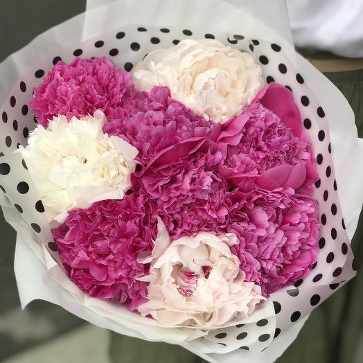 Ароматные пионы для Вашей любимой: букеты цветов на заказ Flowwow