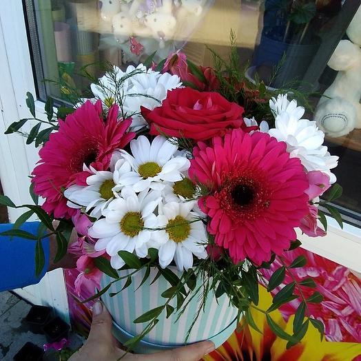 """Шляпная коробка """"Выпускница"""": букеты цветов на заказ Flowwow"""