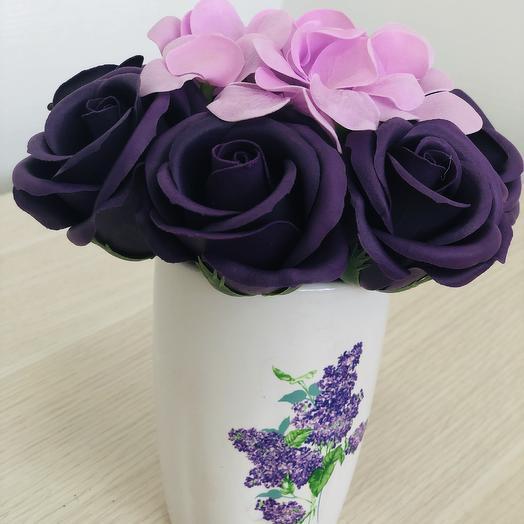 Букет из мыльных роз сиреневого цвета: букеты цветов на заказ Flowwow