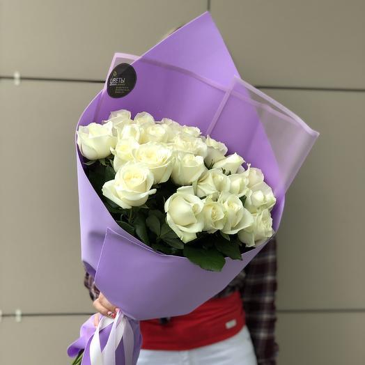 25 роз стильных: букеты цветов на заказ Flowwow