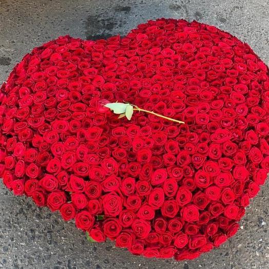 Корзина сердца: букеты цветов на заказ Flowwow