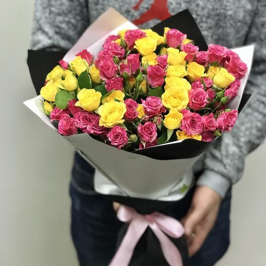 Кустовые розы микс: букеты цветов на заказ Flowwow
