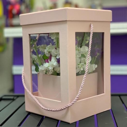 Композиция Дельфиниум микс двух цветов: букеты цветов на заказ Flowwow