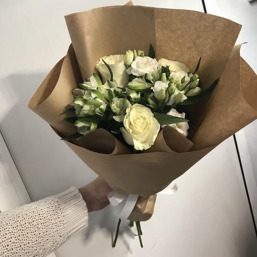 Снежная леди: букеты цветов на заказ Flowwow