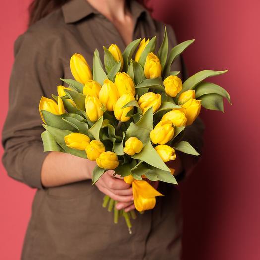 Букет желтых тюльпанов 1